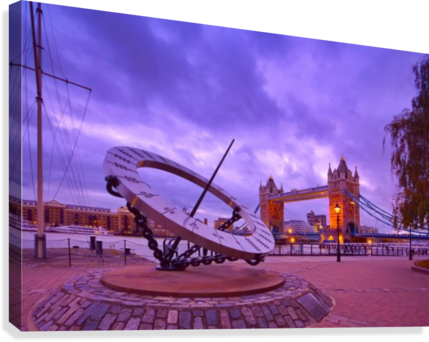 Sundial and Tower Bridge  Canvas Print