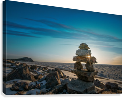 Inukshuk at la Bloc  Canvas Print