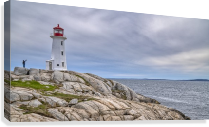 Alone at Peggys Cove.  Canvas Print
