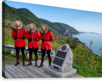 Respect and Honour - RCMP on French Mountain  Canvas Print