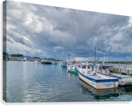 Approaching Storm Clouds - Cheticamp Harbour  Canvas Print