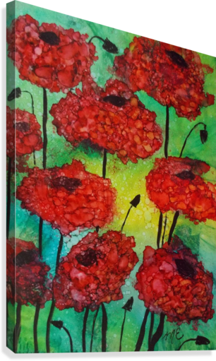 Thinking of Poppies  Canvas Print