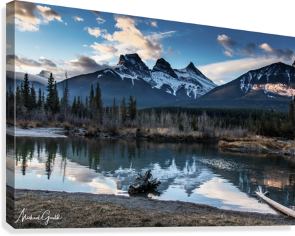 Three Sisters Canmore   Canvas Print