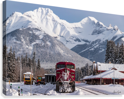 BANFF TRAIN STATION MIKE GOULD PHOTOSCAPES  Canvas Print
