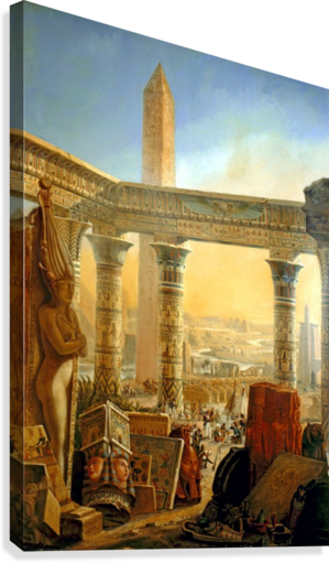 MONUMENTS OF EGYPT, 1821 CHARLES LOUIS FLEURY PANCKOUCKE  Impression sur toile