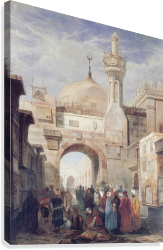 MOSQUE OF AL AZHAR IN CAIRO ADRIEN DAUZATS  Canvas Print