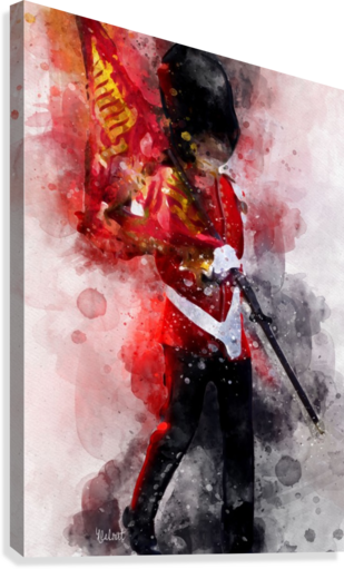 The Queens Guard  Canvas Print