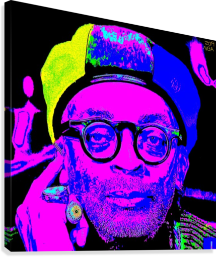 SPIKE LEE  -  BY NEIL GAIRN ADAMS  NEIL GAIRN ADAMS  Canvas Print