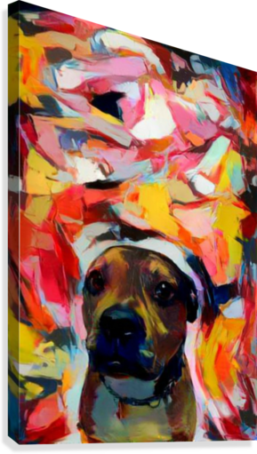 Dog Painting (10)  Canvas Print