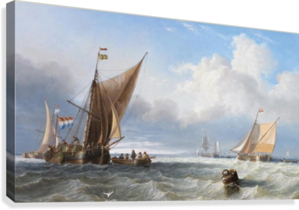Off the Dutch Coast  Canvas Print