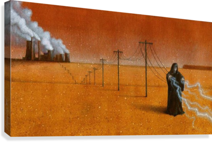 DARK INDUSTRY PAWEL KUCZYNSKI  Canvas Print