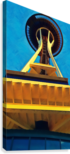 seattle space needle abstract  Canvas Print