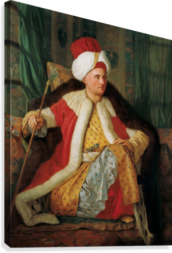 Portrait of Charles Gravier Count of Vergennes and French Ambassador in Turkish Attire Canvas print