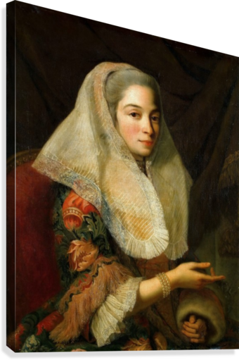 Portrait of a young Maltese woman  Canvas Print