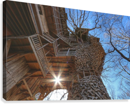 Abandoned Ministers Treehouse  Canvas Print