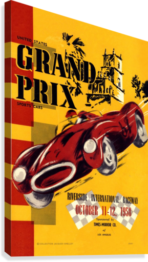Us Grand Prix Sports Riverside International Raceway 1958  Canvas Print