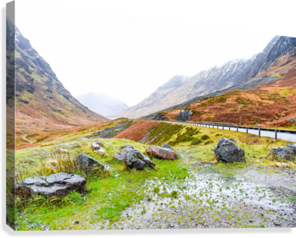 GLEN COE SCOTLAND HIGHLAND UNITED KINGDOM REZIEMART  Canvas Print