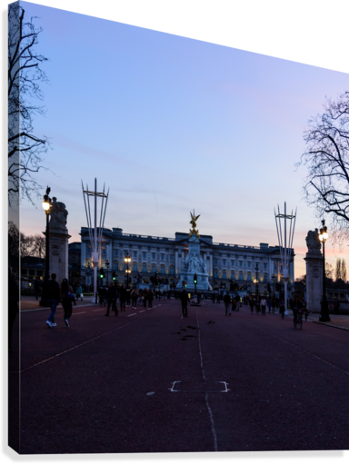 Dusk at Buckingham Palace London  Canvas Print