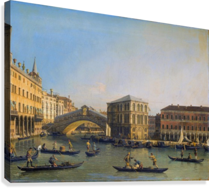 Rialto Bridge Canaletto  Canvas Print