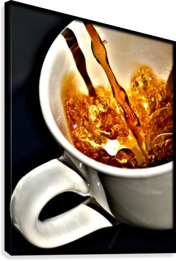 Coffee Pour   Canvas Print