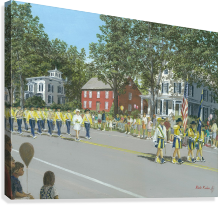 Labor Day Parade - Newtown Series 14X18  Canvas Print
