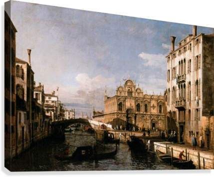 Rio dei Mendicanti with the Scuola di San Marco  Canvas Print