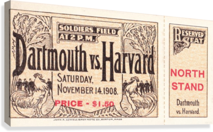 1908 Dartmouth vs. Harvard  Canvas Print