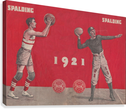 1921 SPALDING  AD ROW ONE BRAND  Canvas Print