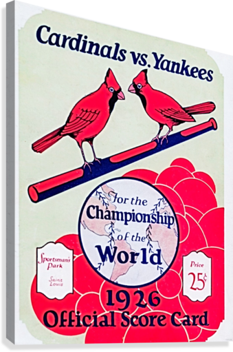 1926 World Series Score Card  Canvas Print