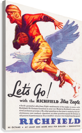 1933 Richfield Gasoline Ad  Canvas Print