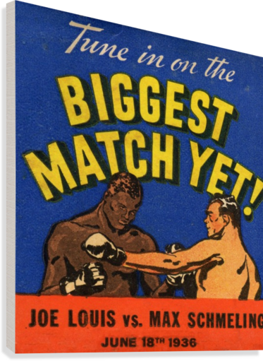 1936 Biggest Match Yet  Canvas Print