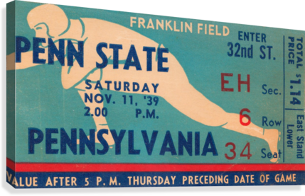 1939 Penn State vs. Pennsylvania  Canvas Print