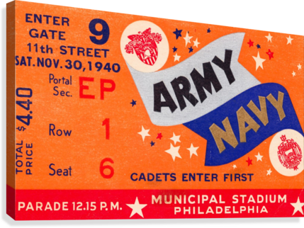 1940 Army Navy Game  Canvas Print