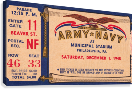 1945 Army Navy Game of the Century  Canvas Print