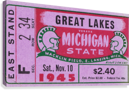 1945 Great Lakes vs. Michigan State  Canvas Print
