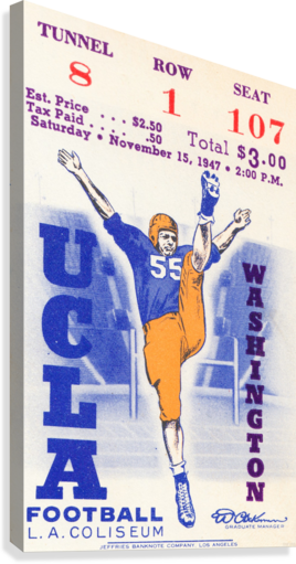 1947 UCLA vs. Washington  Canvas Print