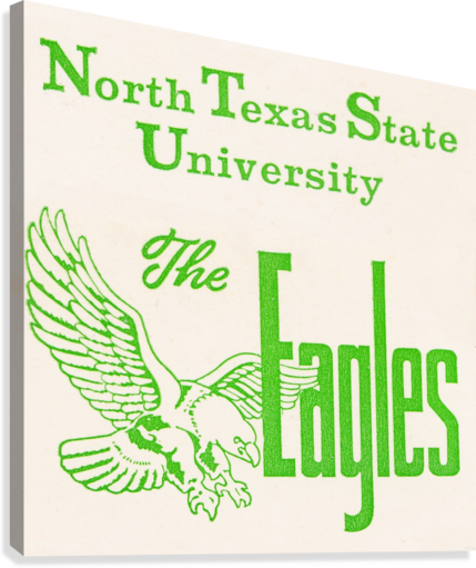 Vintage North Texas State University Eagles Art  Canvas Print