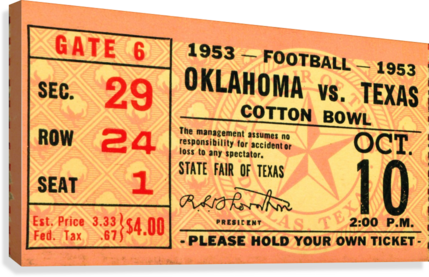 1953 Oklahoma vs. Texas