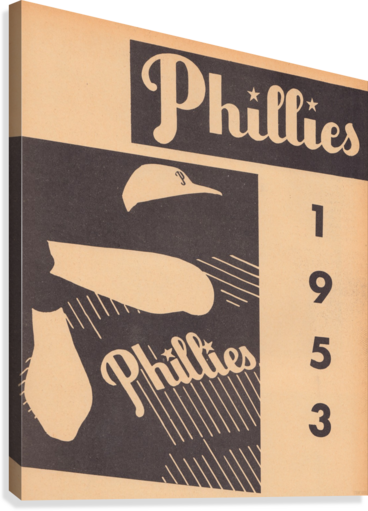 1953 VINTAGE PHILLIES ART PRINT ROW ONE BRAND  Canvas Print