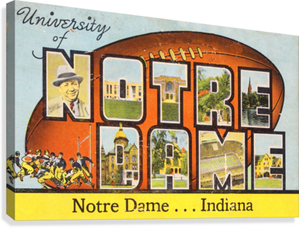1954 notre dame football south bend art  Canvas Print