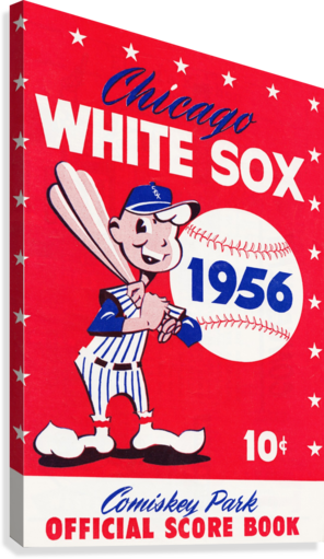 1956 CHICAGO WHITE SOX SCORE BOOK CANVAS ROW ONE BRAND  Canvas Print
