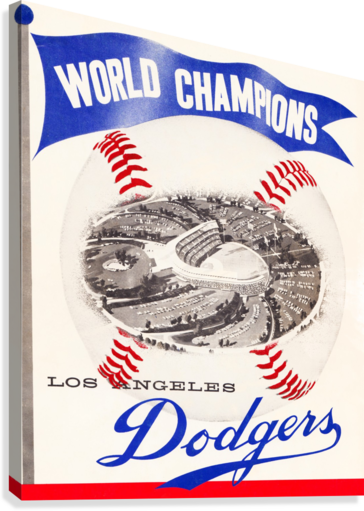 1960 Los Angeles Dodgers Baseball Art  Canvas Print