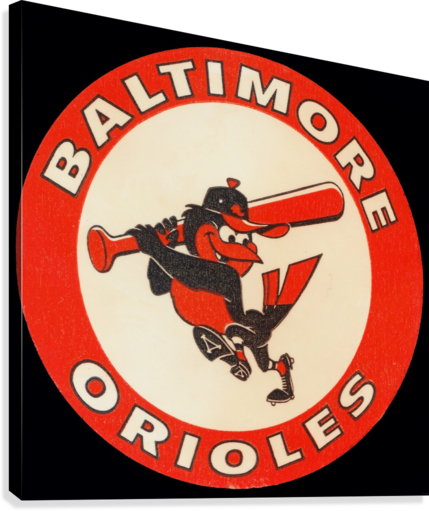 1960s Baltimore Orioles Art  Canvas Print
