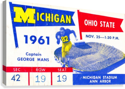 1961_College_Football_Ohio State vs. Michigan_Michigan Stadium_Ann Arbor_Row One Brand  Canvas Print