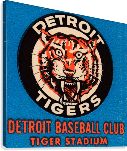 1963 DETROIT TIGERS ART  ROW ONE BRAND  Canvas Print