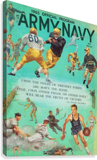 1965 Army vs. Navy Football Program  Canvas Print