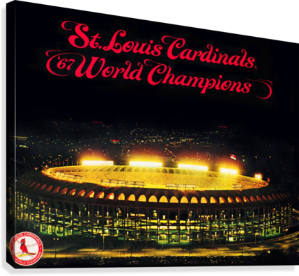 1967 CARDINALS WORLD SERIES CHAMPIONS POSTER BASEBALL ART WOOD PRINTS ROW ONE BRAND  Canvas Print