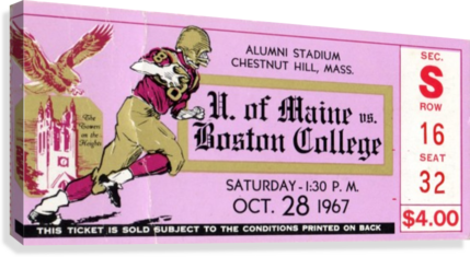 1967 Maine vs. Boston College  Canvas Print