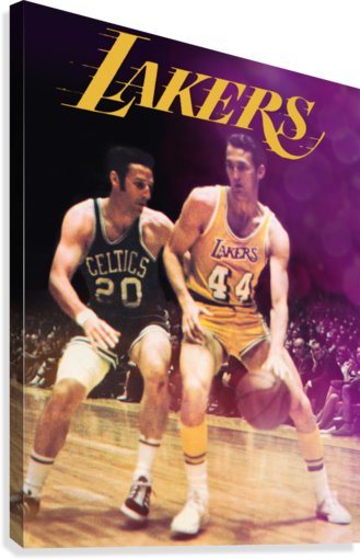 1969 los angeles la lakers jerry west poster