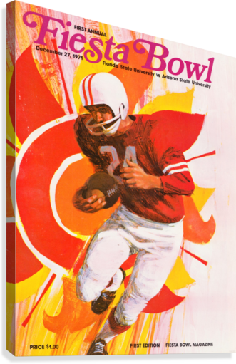 1971 FIRST FIESTA BOWL PROGRAM ROW ONE BRAND  Canvas Print